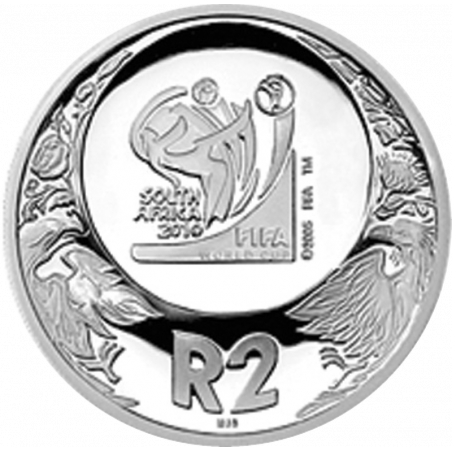 2 Rand, South Africa, 2006, Silver, reverse, Proof - World Cup Soccer