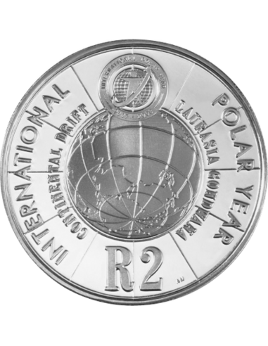 2 Rand, South Africa, 2007, Silver, Reverse, Proof - International Polar Year