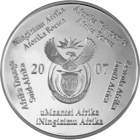 2 Rand, South Africa, 2007, Silver, Obverse, Proof - World Cup Soccer