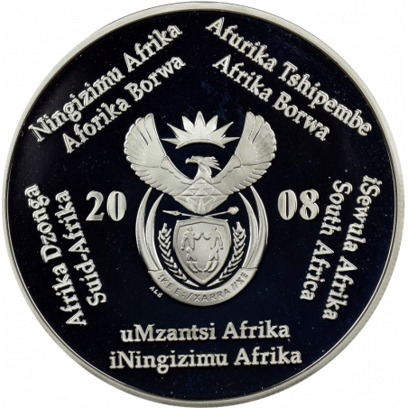 2 Rand, South Africa, 2008, Silver, Obverse, Proof - International Polar Year