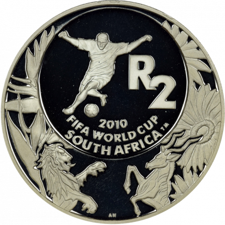 2 Rand, South Africa, 2008, Silver, Reverse, Proof - Word Cup Soccer