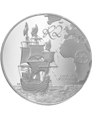 2 Rand, South Africa, 2009, Silver, Reverse, Proof - Drommedaris