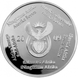 2 Rand, South Africa, 2009, Silver, Obverse, Proof - Drommedaris