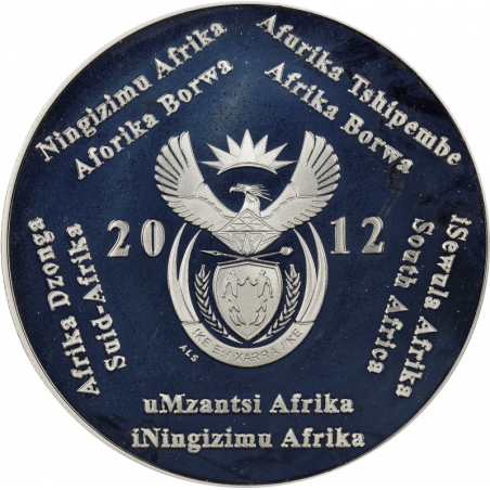 2 Rand, South Africa, 2012, Silver, Obverse, Proof - South Pole