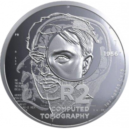 2 Rand, South Africa, 2018, Silver,Reverse, Proof - Computed Tomography
