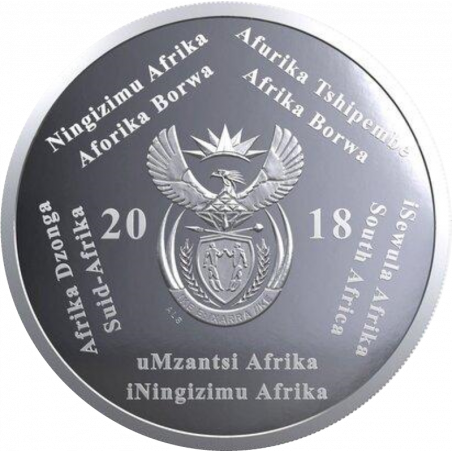 2 Rand, South Africa, 2018, Silver, Obverse, Proof - Computed Tomography