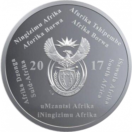 2 Rand, South Africa, 2017, Silver, Obverse, Proof - Heart Transplant