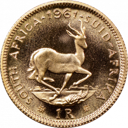 1 Rand, South Africa, 1961, Reverse, Gold