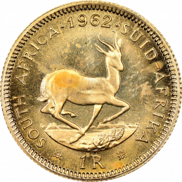 1 Rand, South Africa, 1962, Reverse, Gold
