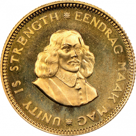 1 Rand, South Africa, 1963, obverse, Gold
