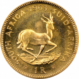 1 Rand, South Africa, 1963, Reverse, Gold