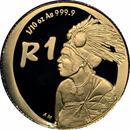 2006 The Ema-Swati Nation, reverse, (R1, 1/10 oz, 24 ct gold)