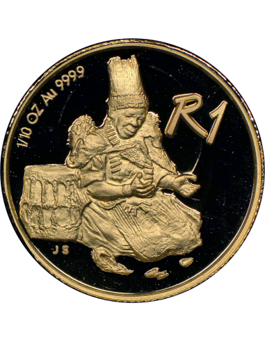 2001 The Sotho Nation, Reverse (R1, 1/10 oz, 24 ct gold)