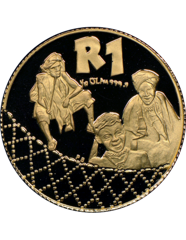 2000 The Xhosa Nation, Reverse (R1, 1/10 oz, 24 ct gold)