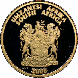 2000 The Xhosa Nation, obverse (R1, 1/10 oz, 24 ct gold)
