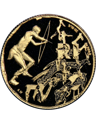 1998 The San People, reverse (R1, 1/10 oz, 24 ct gold)