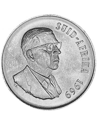 One Rand, South Afrika, 1969, Silver,  Obverse