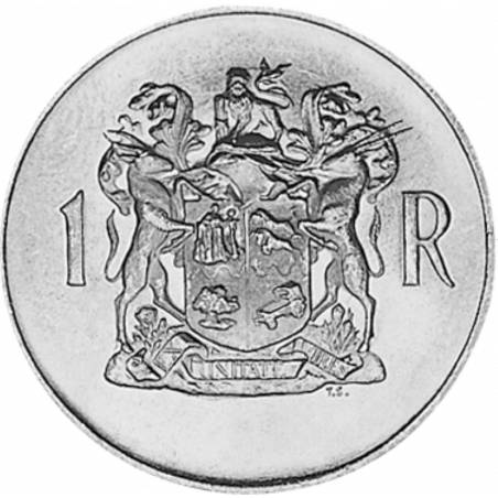 One Rand, South Afrika, Obverse, 1969, Silver