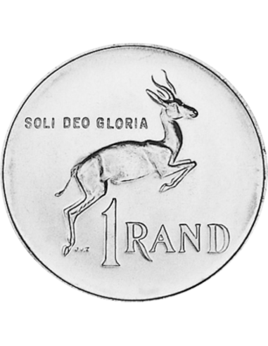 One Rand, South Africa, 1979, Reverse, Silver