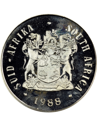 One Rand, South Africa, 1988, Nickel