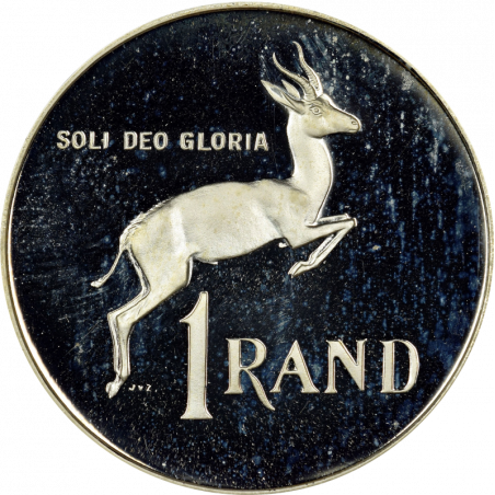 One Rand, South Africa, 1989, Reverse, Silver