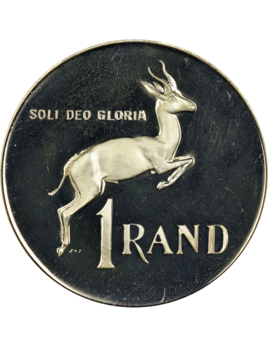 One Rand, South Africa, 1983, Reverse, Nickel