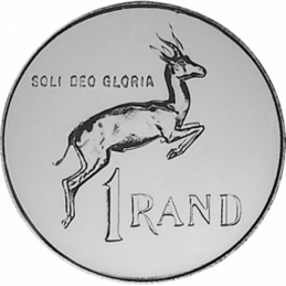 One Rand, South Africa, 1982, Reverse, Nickel