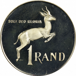 One Rand, South Africa, 1980, Obverse, Nickel