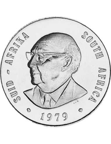 One Rand, South Africa, 1979, Obverse, Nickel