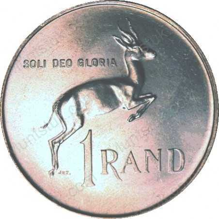 One Rand, South Africa, 1967, nickel, Pregnant Springbok