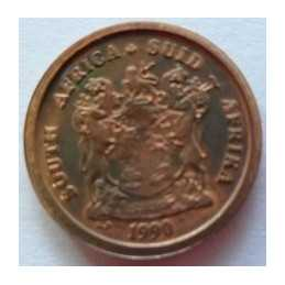 1 Cent, South Africa, 1990