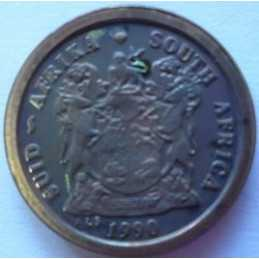 2 Cent, South Africa, 1990