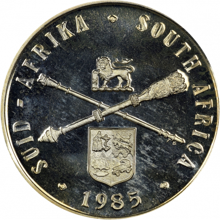 One Rand, South Africa, 1985, Obverse, Silver