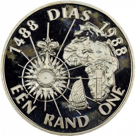 One Rand, South Africa, 1988, Silver - Diaz