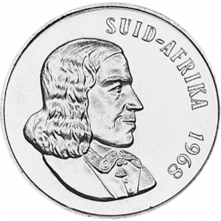 One Rand, South Africa, 1968, Silver, Obverse