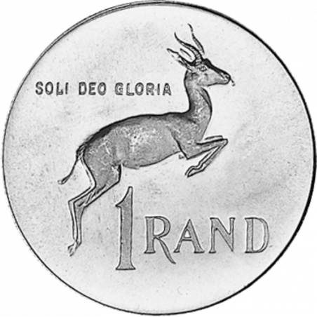 One Rand, South Africa, 1972, Reverse, Silver