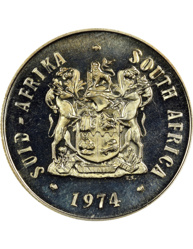 One Rand, South Africa, 1974, Silver, Obverse - Anniversary of Pretoria Mint