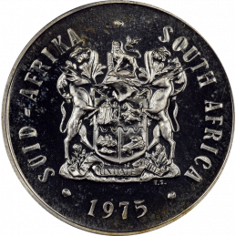 One Rand, South Africa, 1975, Obverse, Silver
