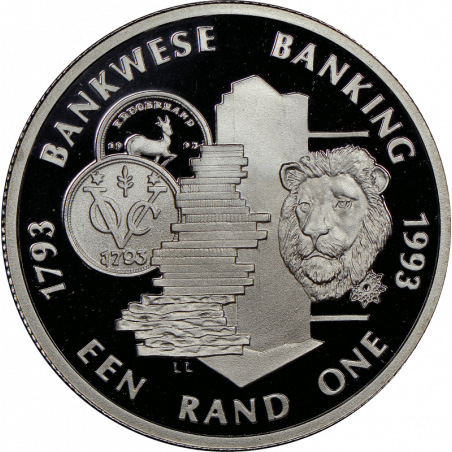 1 Rand, South Africa, Protea, Obverse, 1993, Proof