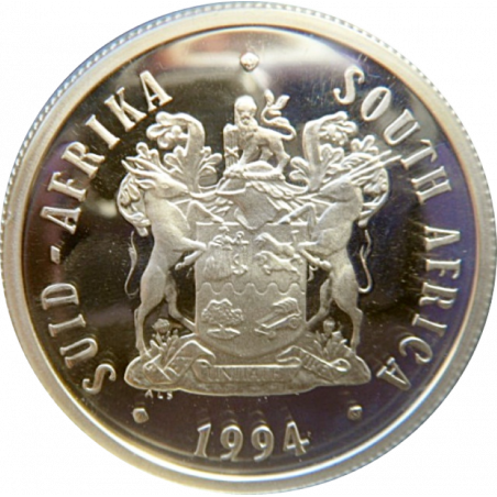 R1, South Africa, 1994, Silver, Obverse, Proof - Presidential Inauguration