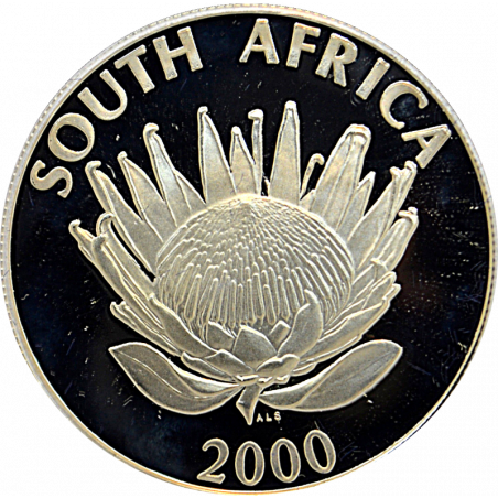 R1, South Africa, Protea 2000, Reverse, Silver - Wine Industry