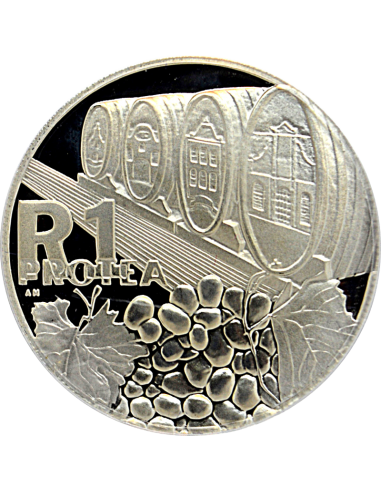 R1, South Africa, Protea 2000, Obverse, Silver - Wine Industry