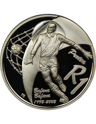R1, South Africa, Protea 2002, Silver - Soccer