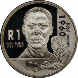 R1, South Africa, Protea 2005, Reverse, Silver - Albert Luthuli