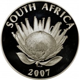 R1, South Africa, Protea 2007, Obverse, Silver - Nelson Mandela