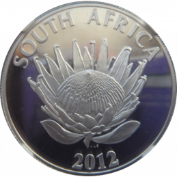 R1, South Africa, Protea 2012, Obverse, Silver - The Sisulus