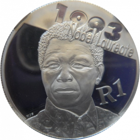 R1, South Africa, Protea 2007, Reverse, Silver - Nelson Mandela