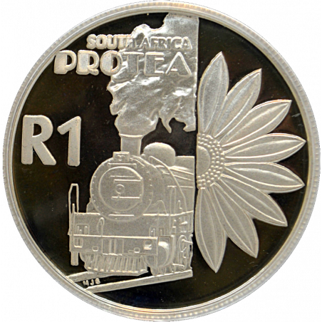 R1, South Africa, Protea 2000, Reverse, Silver - Tourism
