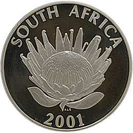 R1, South Africa, Protea 2000, Obverse, Silver - Tourism