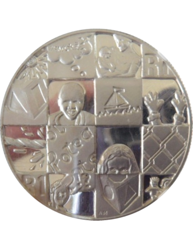 R1, South Africa, Protea 1998, Reverse, Silver - Year of the Child